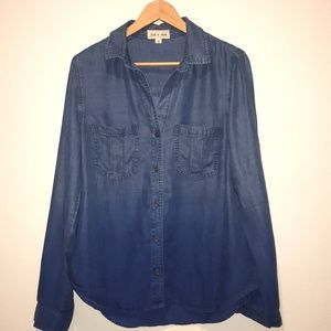 NWT Anthropologie Cloth & Stone Denim Button